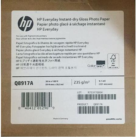Q8917A HP Everyday Instant-dry Gloss Photo Paper 235 g/m2 914 mm x 30,5 m 231 mic.