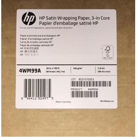 HP PageWide XL Saten Poster Kağıdı 914mmx45,7m HP Satin Wrapping Paper 100gsm
