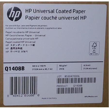 Q1408B HP Universal Coated Paper 90 g/m2 1524 mm x 45,7 m 124 mic.